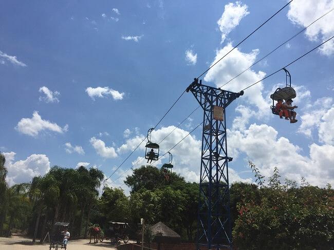 teleférico do parque maeda