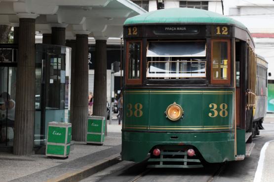Bondinho cidade de Santos