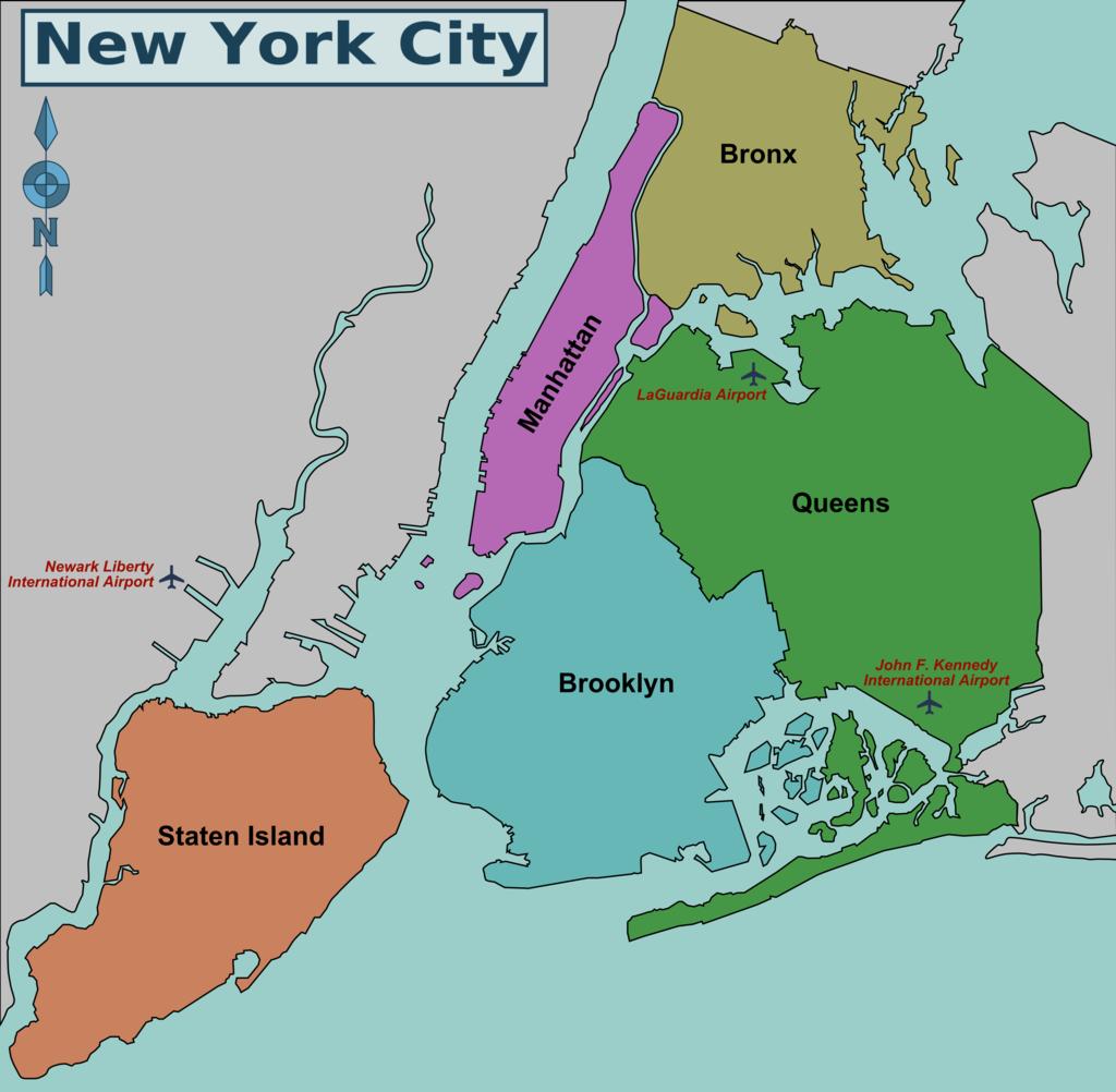 nova york mapa
