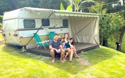 Ficamos em um trailer home no interior de SP